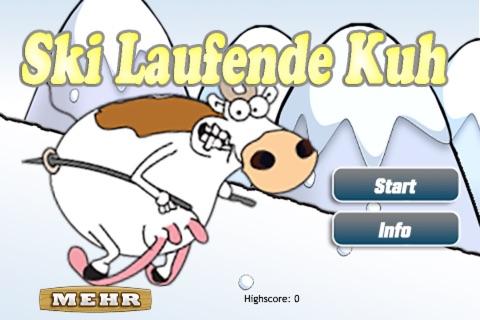 Die Verrückte Ski Laufende Kuh - náhled