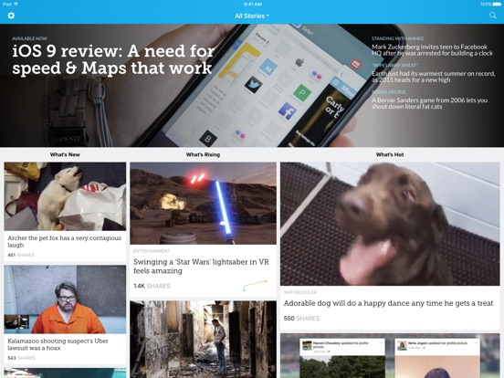 Mashable Screenshot
