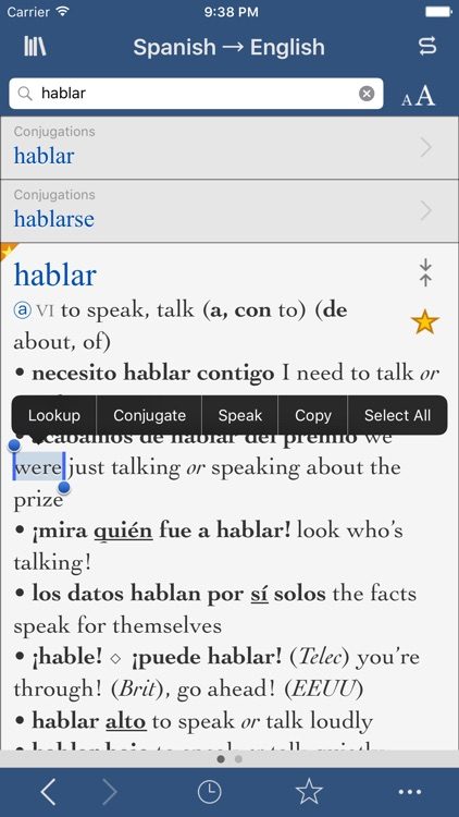 Collins Spanish-English Translation Dictionary and Verbs