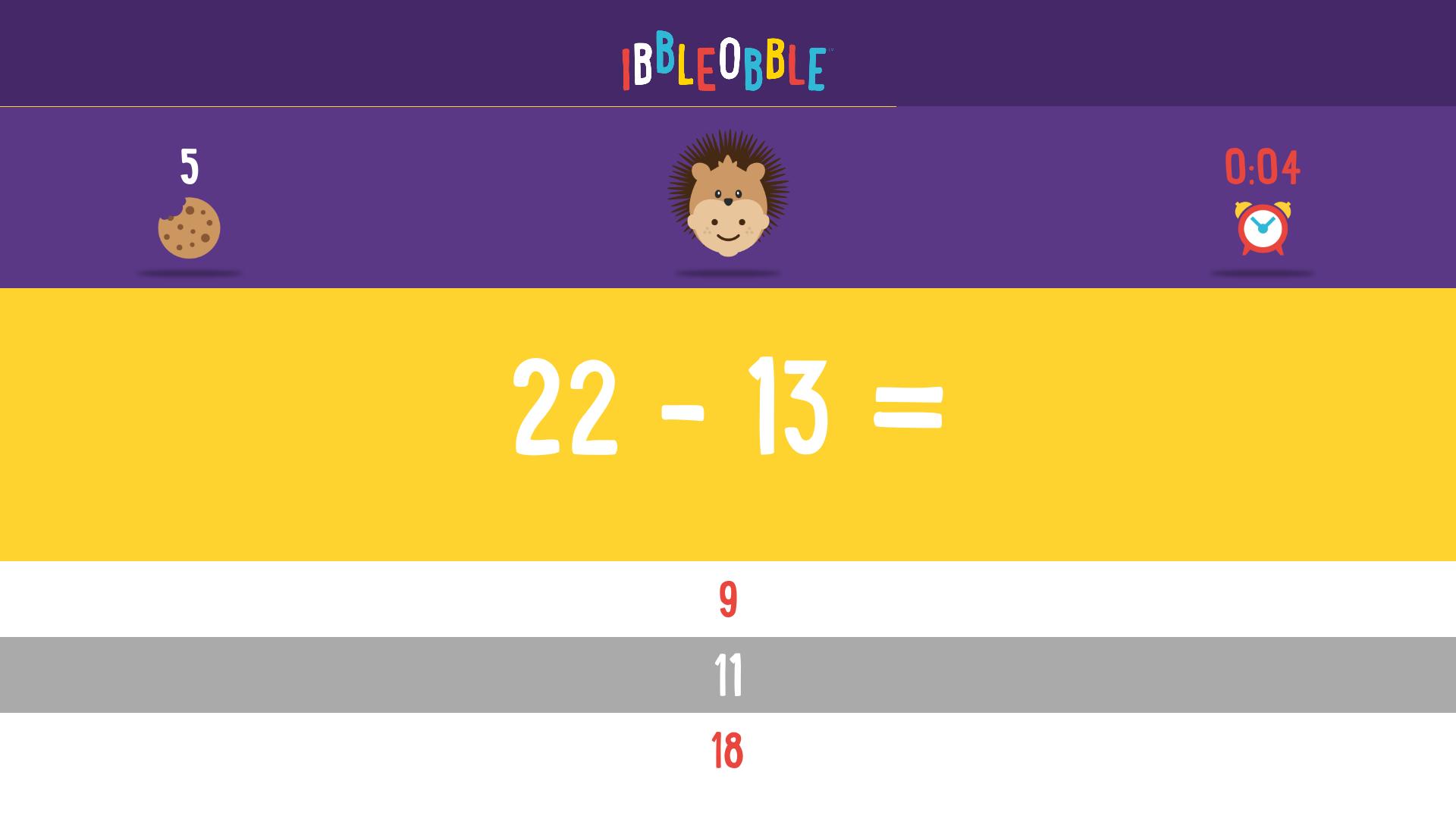 Subtraction with Ibbleobble screenshot 14