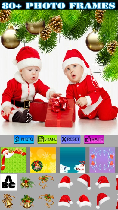 Xmas Photo Frames and Wallpapers HD screenshot one