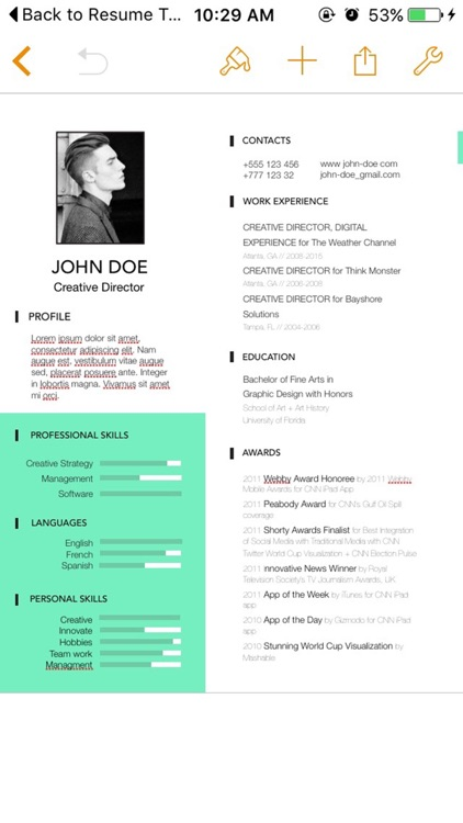 Resume Templates for Pages screenshot-4