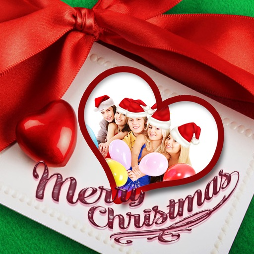 Christmas Photo Collage & Cards Maker - Mail Thank You & Send Wishes with Greeting Quotes Stickers