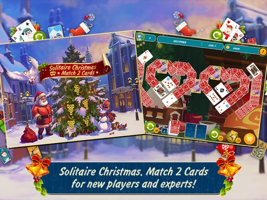 screenshot 1 for solitaire christmas match 2 cards - Solitaire Christmas