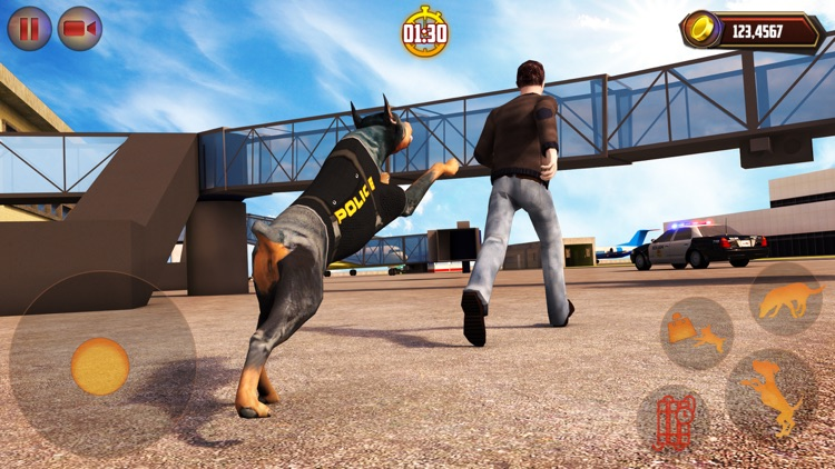 Airport Police Dog Duty Sim
