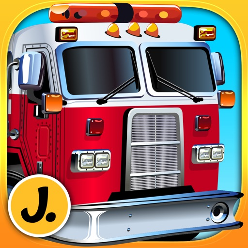 Fire Engines and other Trucks - puzzle game for little boys and preschool kids - Free