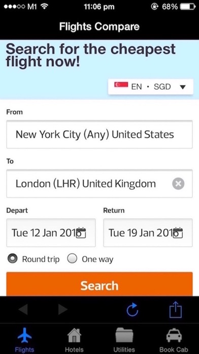 Cheap Flight Bookings screenshot one