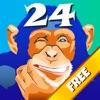 猩猩大战24点(免费) - 玩数学游戏提高心算能力