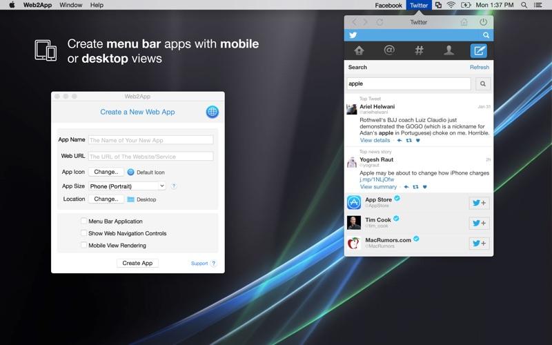 Web2App Screenshot
