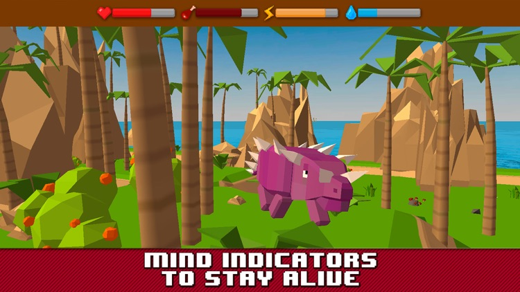 Dino Island Survival Simulator 3D Full screenshot-3