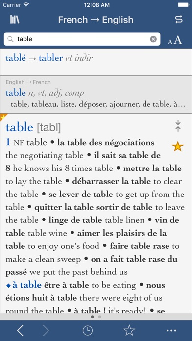 Collins-Robert Concise French Dictionary screenshot one