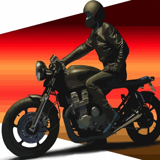 Victoria Motorcycle Rider - Dark Iron Hero Racing