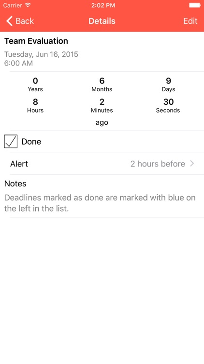 Deadline Tracker - Keep Track of Deadlines and Avoid Procrastination - with Alerts and Countdown