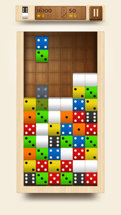 Domino Fit - 10/10 Merged Blocks (Dominoes puzzle games)
