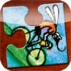Cykelmyggen Egon Puslespil og bog