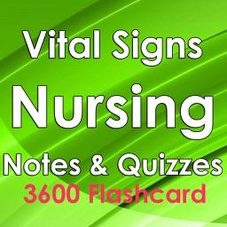 Vital Signs Nursing Study Note & Exam Review 3600 Flashcard