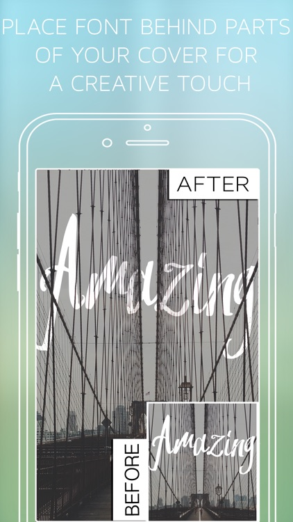 Under Ink - Typography Cover Maker for Wattpad & Movellas