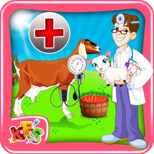 Коза беременность хирургия - животное ветеринар врач и больница симулятор для детей