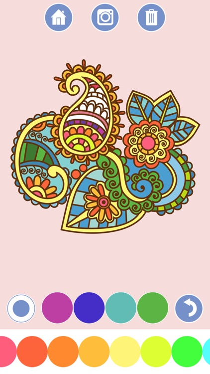 My Coloring Book - Mandala, Tribal, animals and classic ornaments + screenshot-3