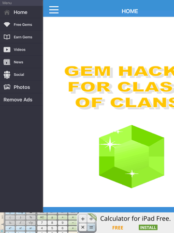 Screenshots of FREE Gem Hacks for Clash of Clans for iPad