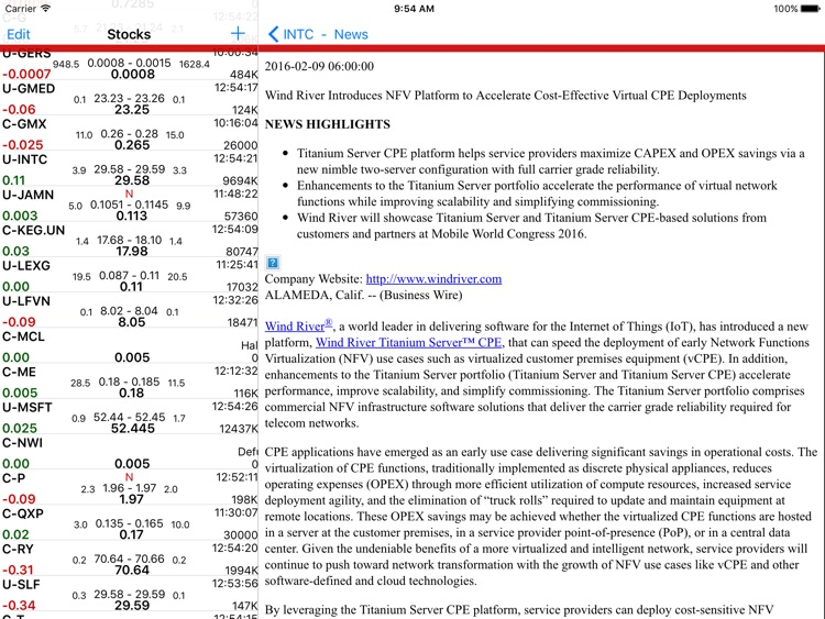 Stockwatch Ticker - iPad Edition screenshot-4