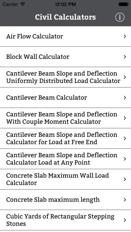 Civil Engineering Calculator