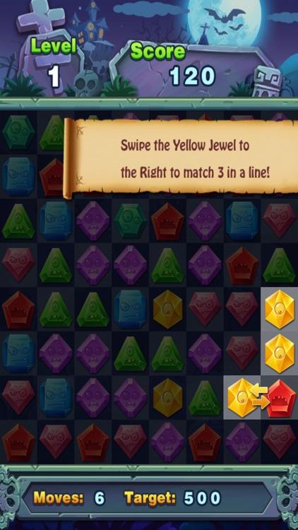 Match Jewel Pop Star - Puzzle Match-3 Jewel Star Zombie Edition