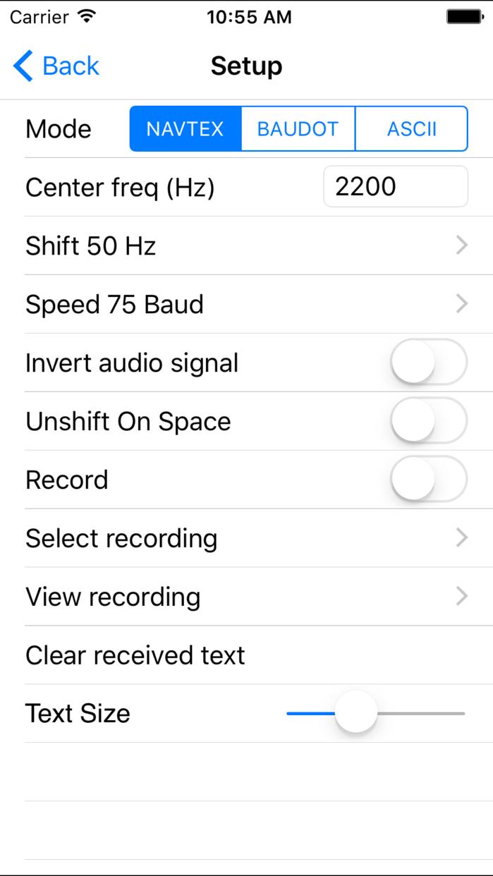 NAVTEX Pad Screenshot
