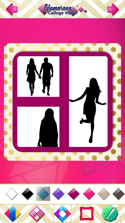 Glamorous Collage Maker for Girls - Stitch and Split Beautiful Pics in Photo Editor screenshot-4