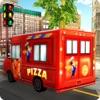 比萨送货车模拟器 - 快餐卡车司机模拟器游戏