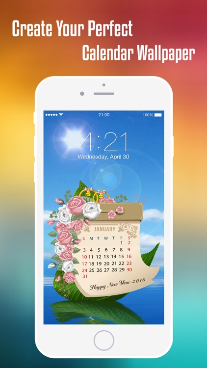 Calendar Wallpaper Maker : Lock screen calendar wallpaper creator make
