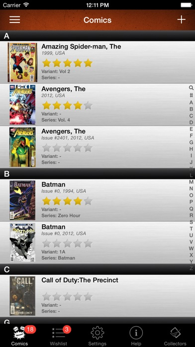 Comic Book Collector Database App Price Drops