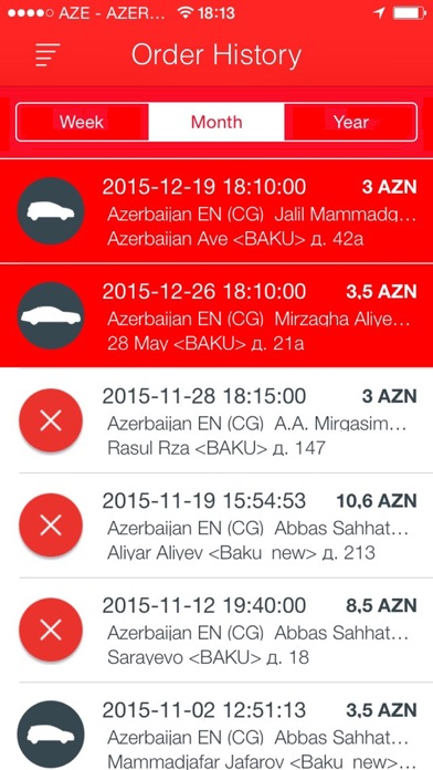 Screenshot for Dost Taxi in Azerbaijan App Store