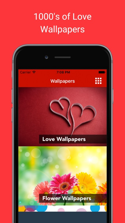 Love & Romantic Wallpapers : Backgrounds and pictures of valentine heart, flowers and polka dots as home & lock screen images