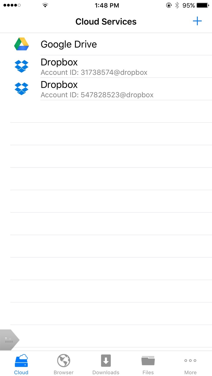 iDL PLUS FREE - Cloud Storage and File Manager Screenshot