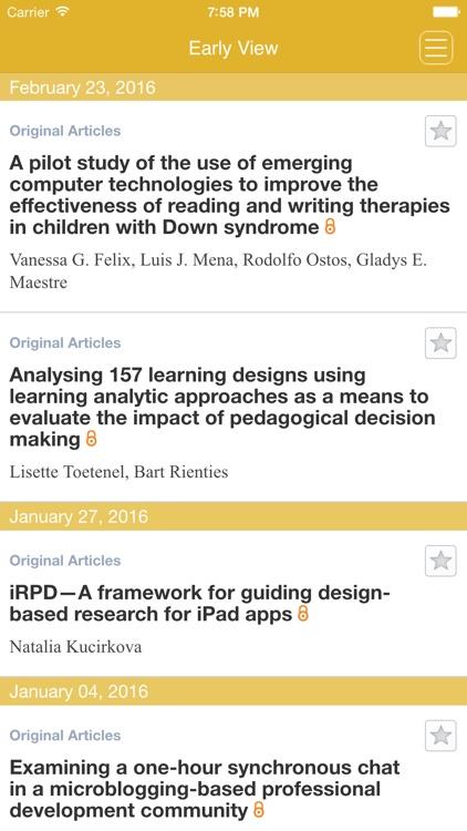 British Journal of Educational Technology screenshot-3