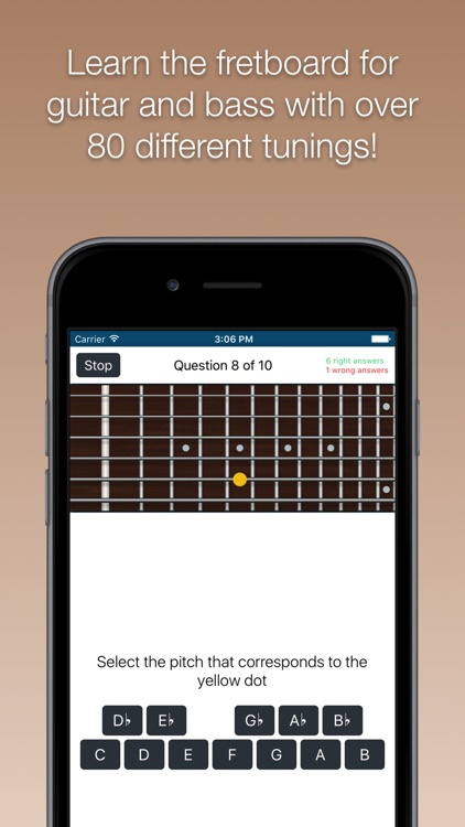 Fretboard Trainer - Learn the notes for guitar and bass screenshot-0