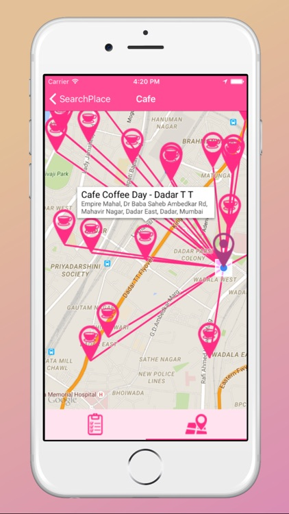 Search Place - Find NearBy Places to your Current Location