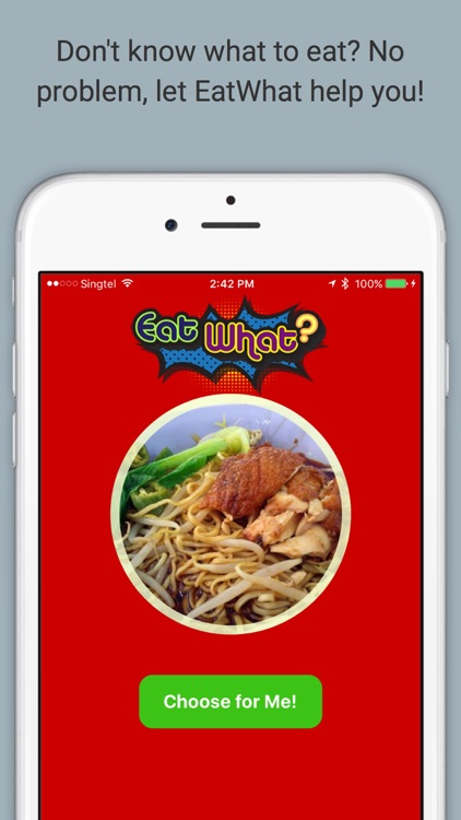EatWhat - Make the decision of what to eat for you!