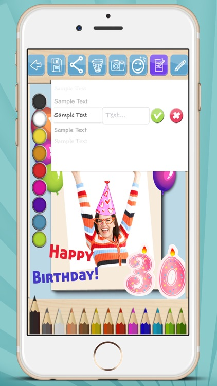 Create cards and postcards to wish happy birthday screenshot-3
