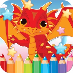 Dragon Drawing Coloring Book - Cute Caricature Art Ideas pages for kids