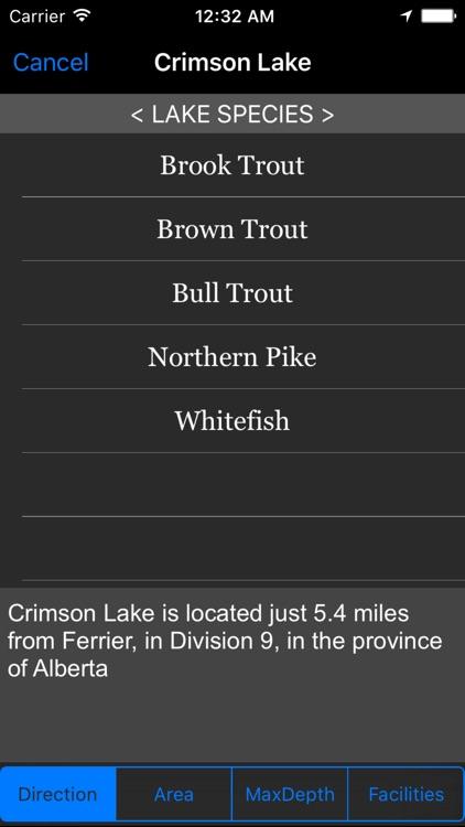 Alberta: Fishing Lakes
