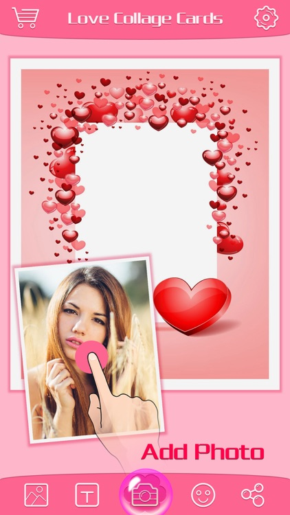 Love Greeting Cards Maker - Picture Frames for Valentine's Day & Kawaii Photo Editor screenshot-3