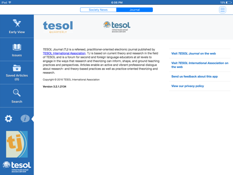 Screenshot of TESOL Journal
