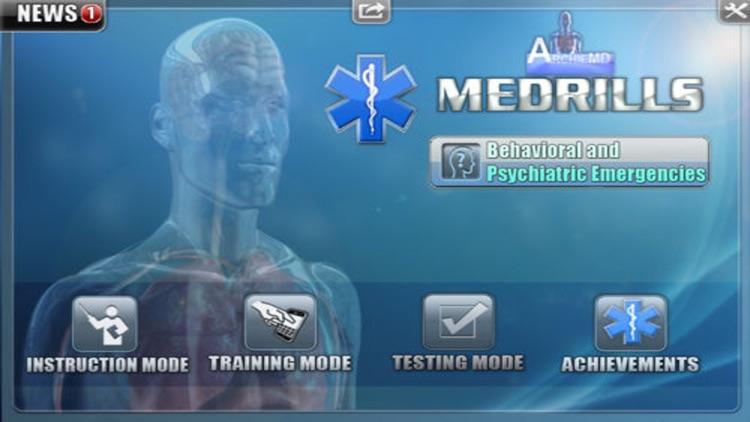 Medrills: Behavioral and Psychiatric Emergencies