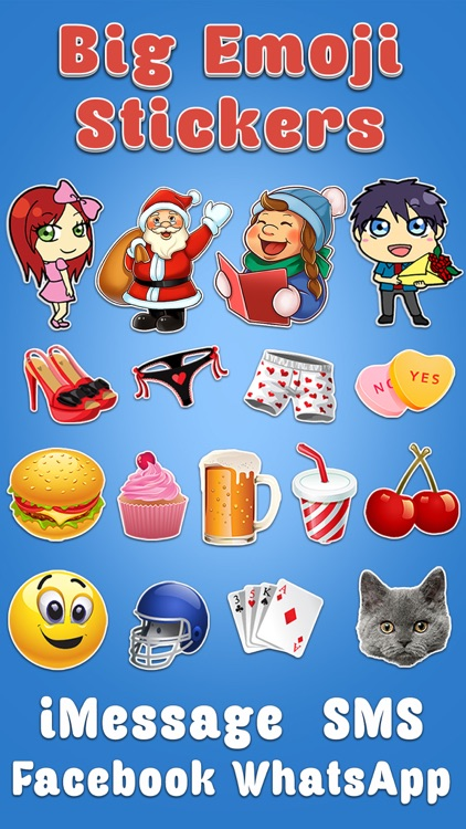 Big Emoji Keyboard - Stickers for Messages, Texting & Facebook screenshot-0