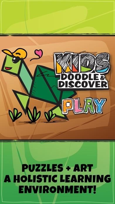 Kids Doodle & Discover: Wild Animal, Cartoon Shape