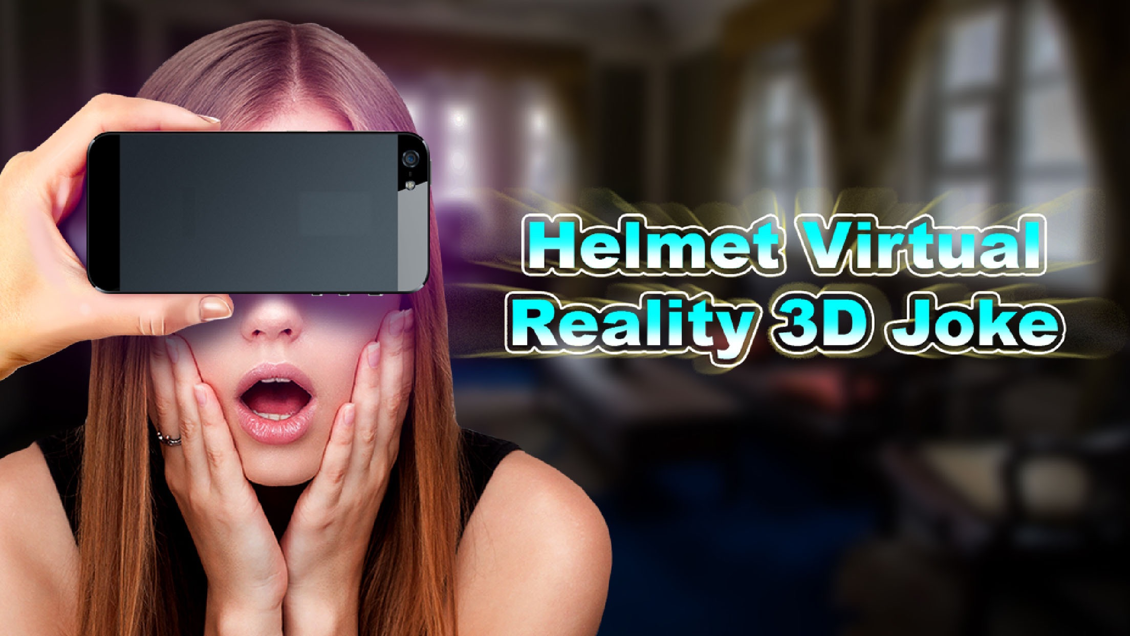 Helmet Virtual Reality 3D Joke Screenshot