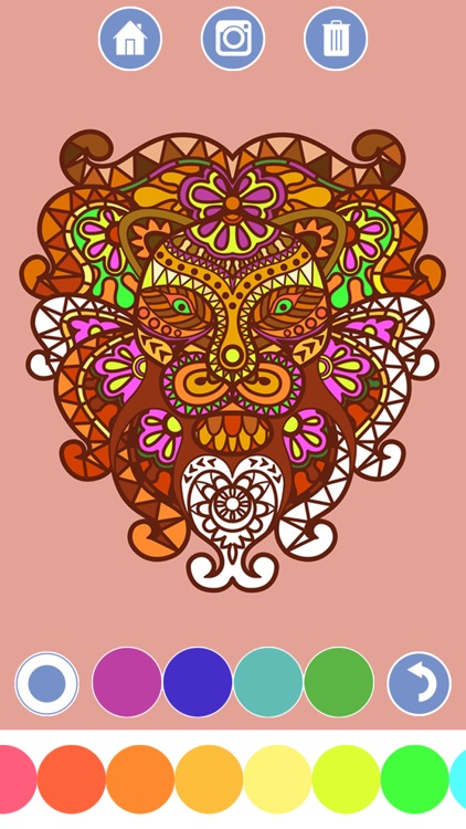 My Coloring Book - Mandala, Tribal, animals and classic ornaments +