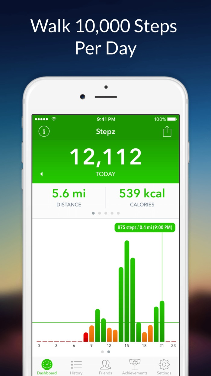 Stepz: Pedometer & Step Counter for Tracking Steps Screenshot